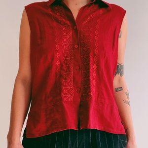 Now Brand button down shirt in red